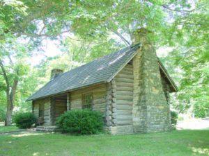 カンバーランド長老教会発祥の地にあるログハウスです